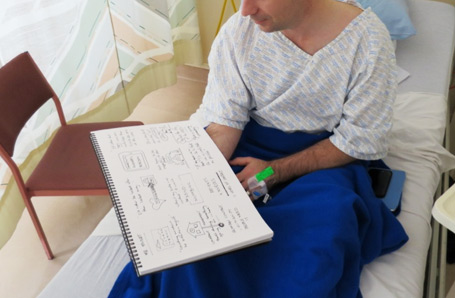 Patients love to see what all that doodling was about, and usually and valuable comment.