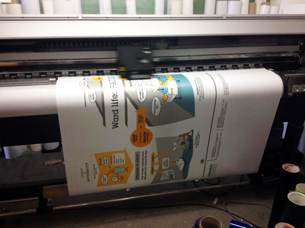 Printing a UX research poster