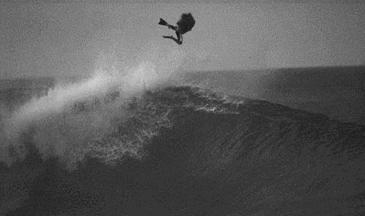 Mike 'Eppo', putting my boards to the test at Pipe, Hawaii in '93.